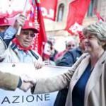 A Roma corteo per lavoro e contro guerra