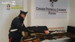 Le armi sequestrate dai Ros all'organizzazione «Avanguardia Ordinovista»,