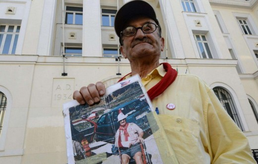 Cestaro, una delle vittime delle violenze poliziesche al G8 di Genova 2001