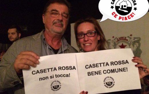 la solidarietà a Casetta Rossa espressa da Ilaria Cucchi e Fabio Anselmo